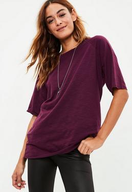Purple Slub Raglan T-shirt