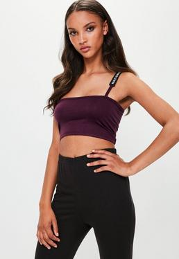 Londunn + Missguided Purple Square Neck Bralet