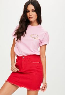 Różowy T-Shirt Okay...Bye
