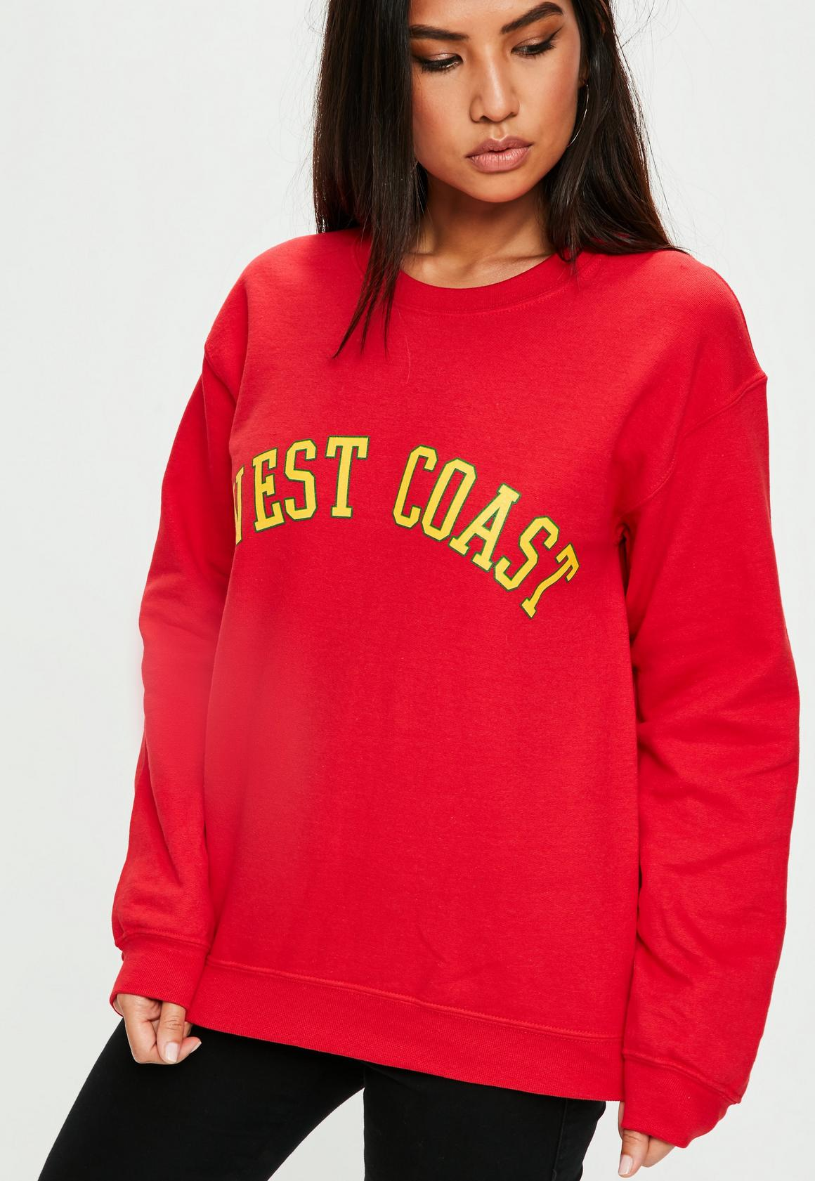 footwear sale online coupon code Missguided Red West Coast Sweater, Red at £18 | love the brands