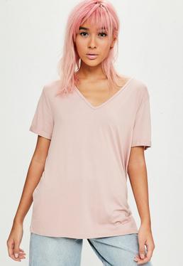 Camiseta boyfriend en rosa
