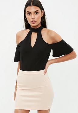 Black Off The Shoulder Bodysuit