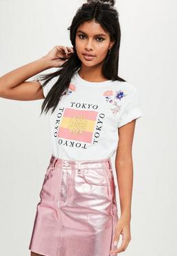 White Tokyo Floral T-shirt