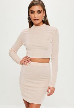 Nude Slinky Crop Top