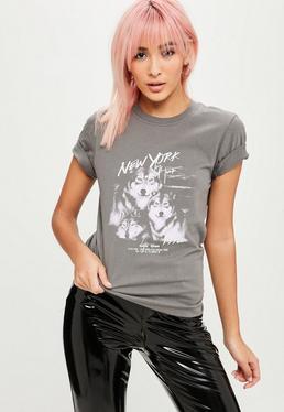 Grey Wolf Graphic Tshirt