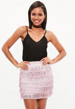 Black Slinky Cami Swing Vest Top