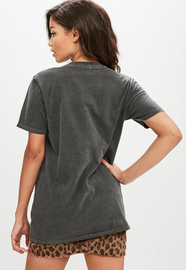 Grey washed out printed t shirt missguided for 24 hour t shirt printing
