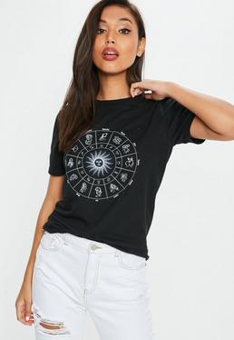 Black Horoscope T Shirt