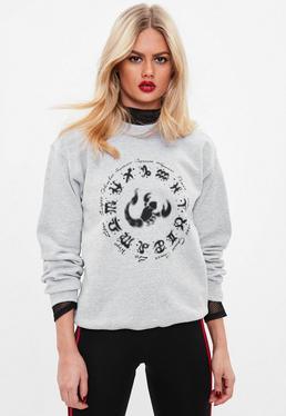 Gray Horoscope Wheel Sweatshirt