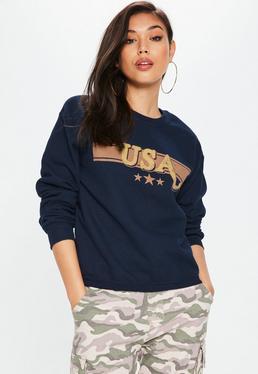 Granatowa bluza USA
