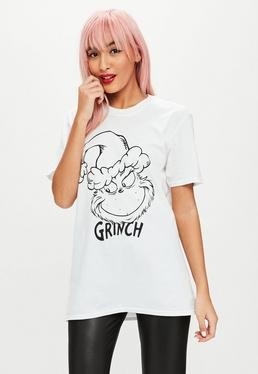 White Christmas The Grinch Graphic T-shirt