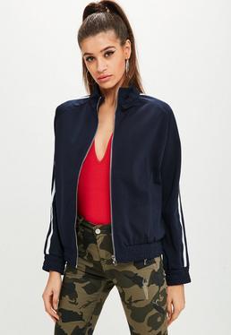 Navy Side Stripe Tracksuit Jacket