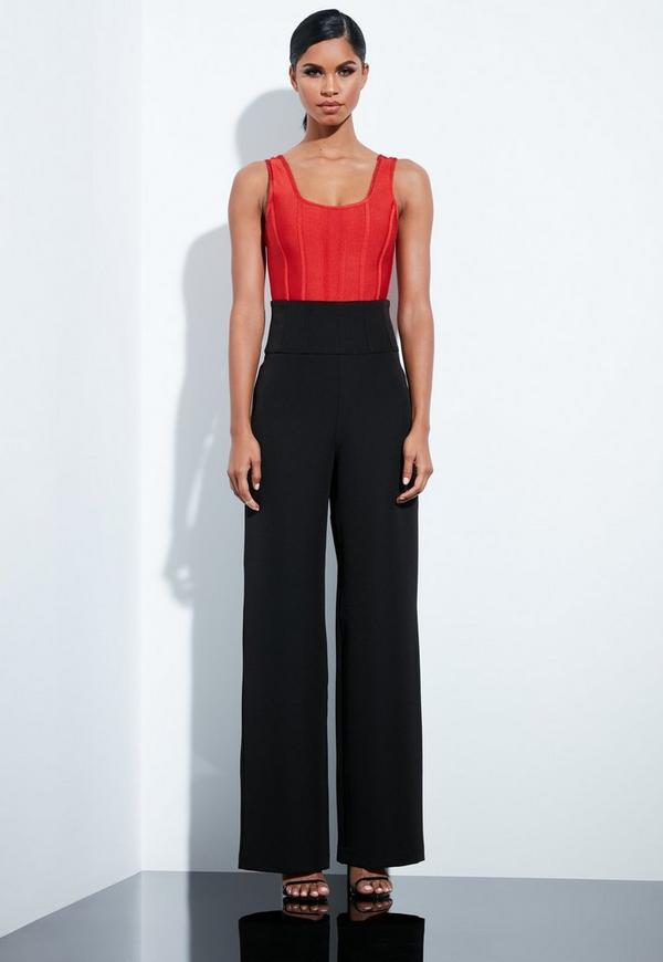 c4781ab62c3 Red Cornelli Lace Sleeveless Crop Top | Missguided Australia