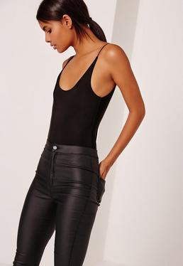 Soft Slinky Bodysuit Black