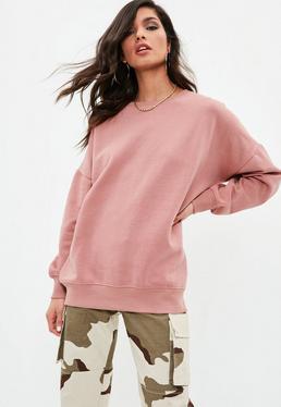 Pink Taupe Crew Neck Sweatshirt