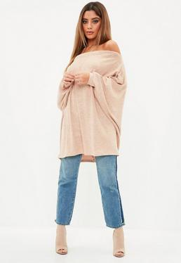 Nude Brushed Bardot Tunic