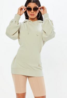 Beżowa owersajzowa bluza
