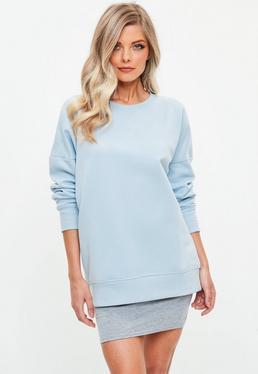 Niebieska owersajzowa bluza