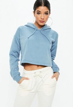 Niebieska krótka bluza