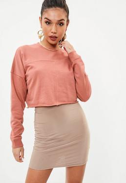 Różowa krótka bluza