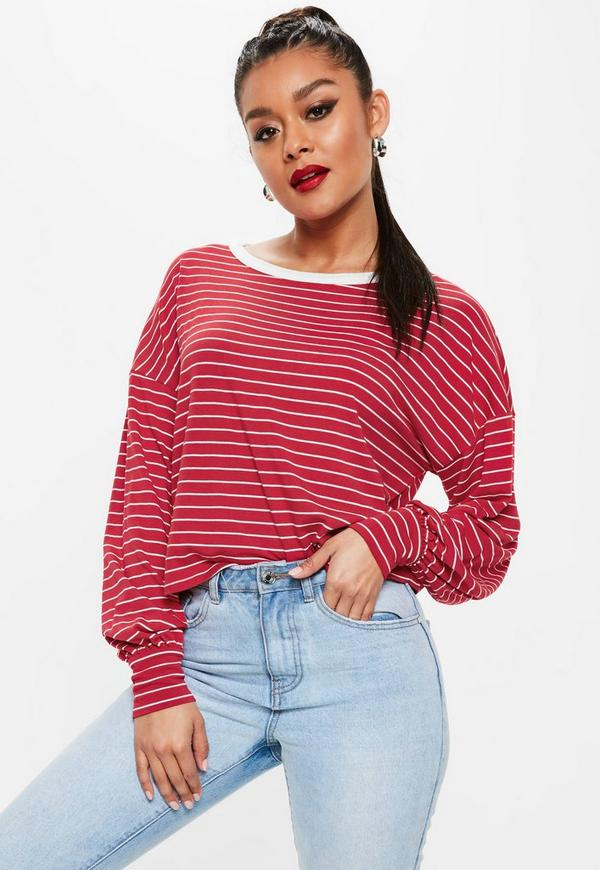 37c76a0cff4a Red Striped Drop Shoulder Boxy Top.  30.00. Previous Next