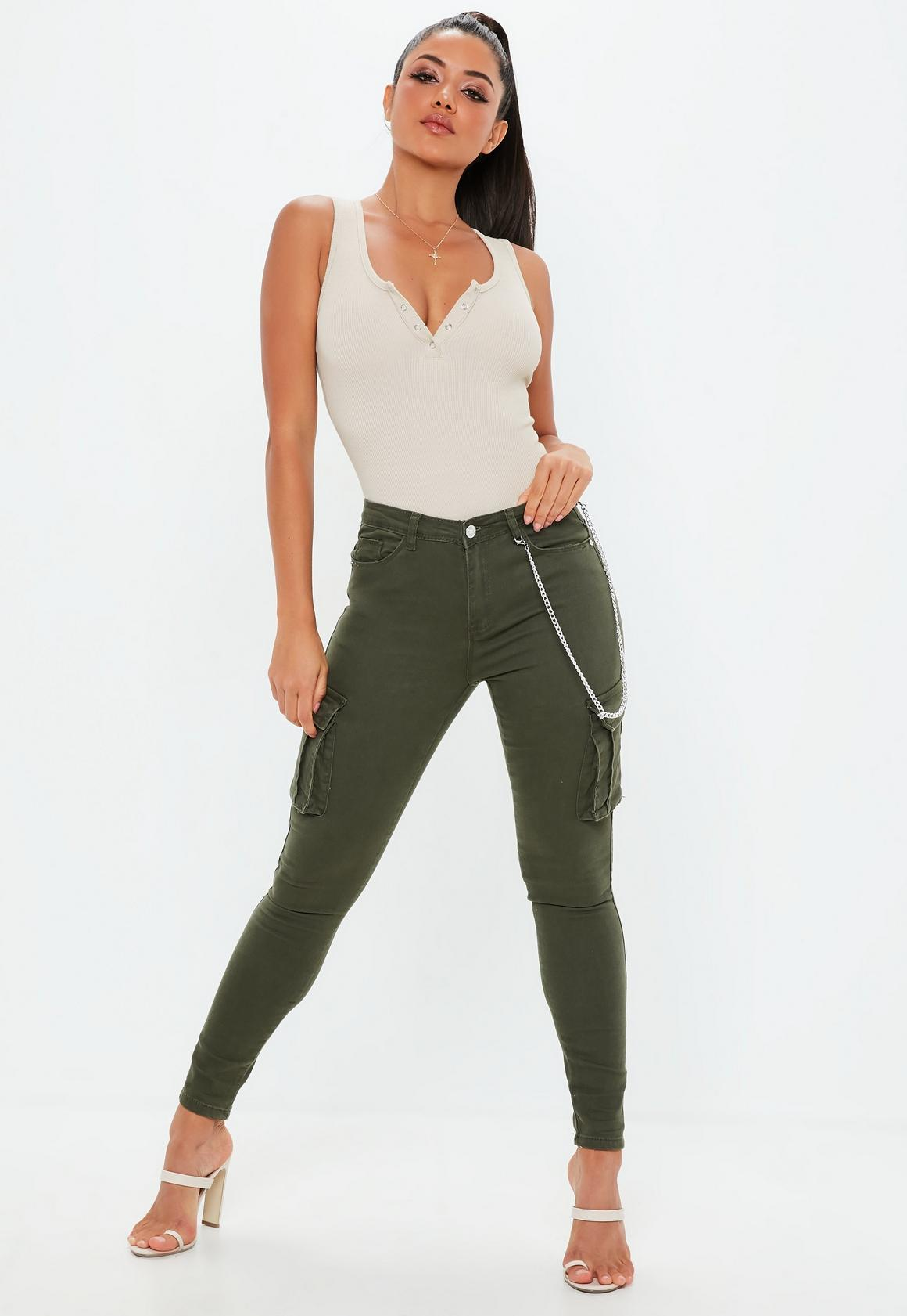 e49b34cf7f4f Missguided Button Front Sleeveless Ribbed Bodysuit at £12 | love the ...