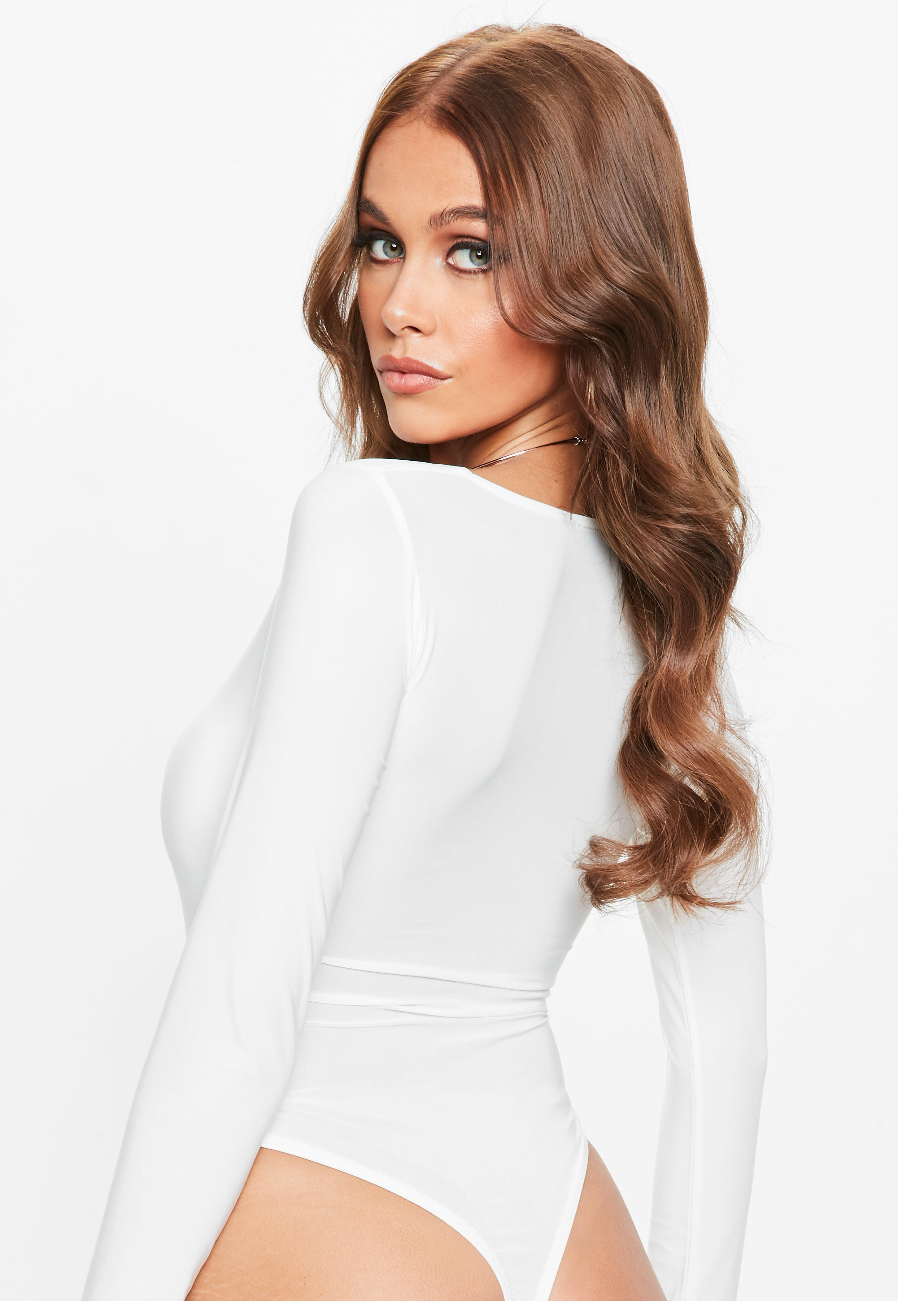 Discount Affordable Cheap Big Discount Missguided Soft Touch Slinky Square Neck Bodysuit WEtSdTR
