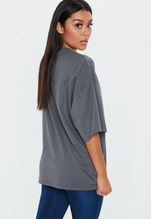 4e8a6a76a Grey Drop Shoulder Oversized Washed Top. Previous Next