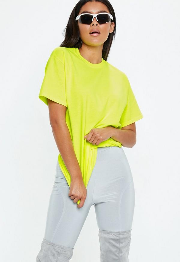 Green Fluro Oversized T Shirt by Missguided