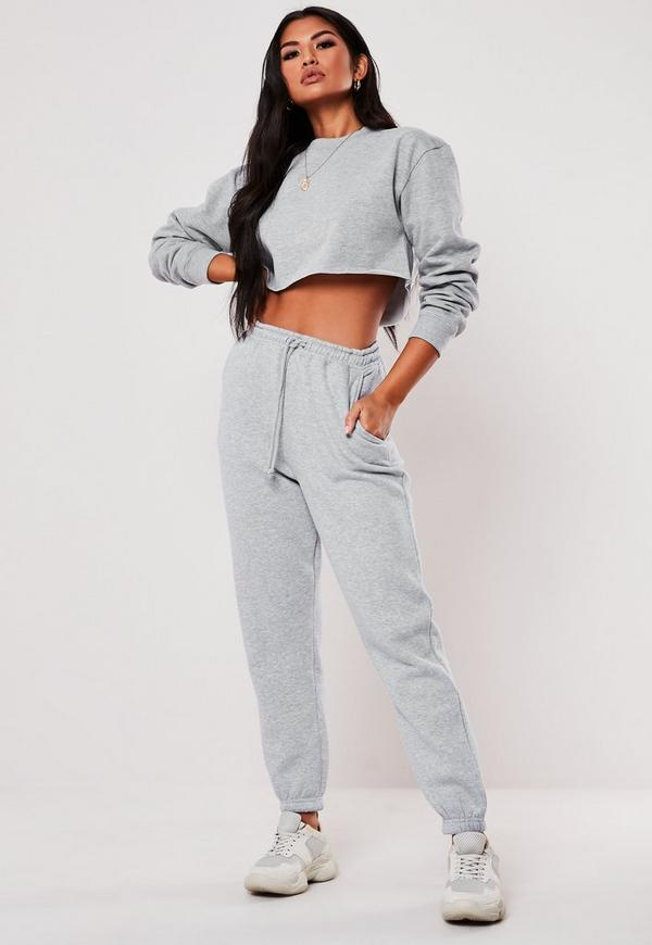 Grey Cropped Sweatshirt. Previous Next f86b9c775