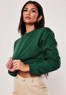 5c007b9ddbd10a Cropped Sweatshirts. Lime Green Tops