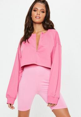 b0340af881e33 Pink Shirts · Zip Front