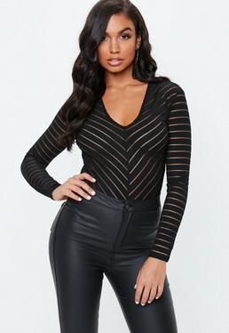5e8c6f1f Long Sleeve Bodysuits Online - Missguided