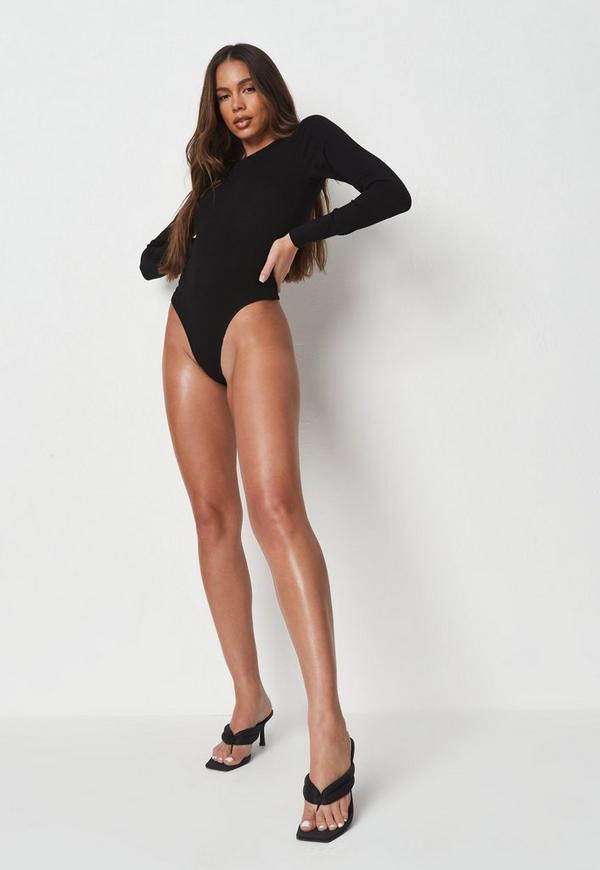 Black Extreme Scoop Back Bodysuit. Previous Next f223bf87e
