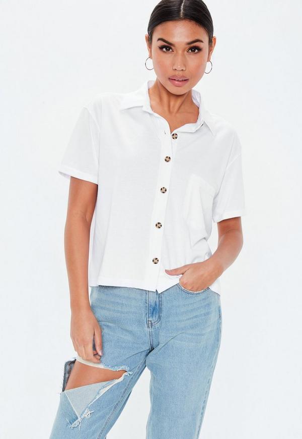 6a24228853c White Boxy Jean Grazer Shirt