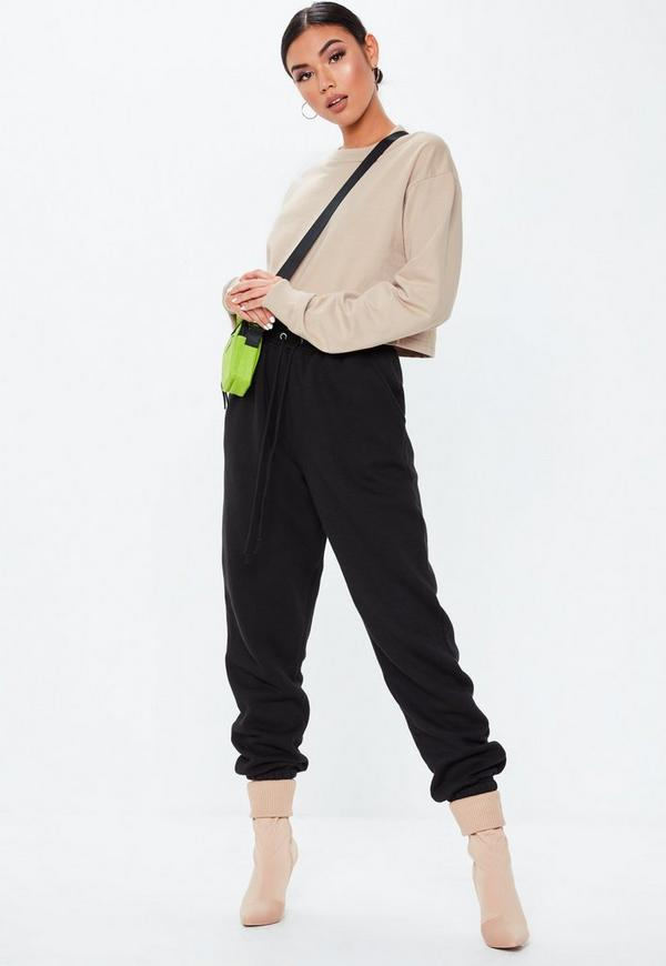 Sand Cropped Sweatshirt by Missguided