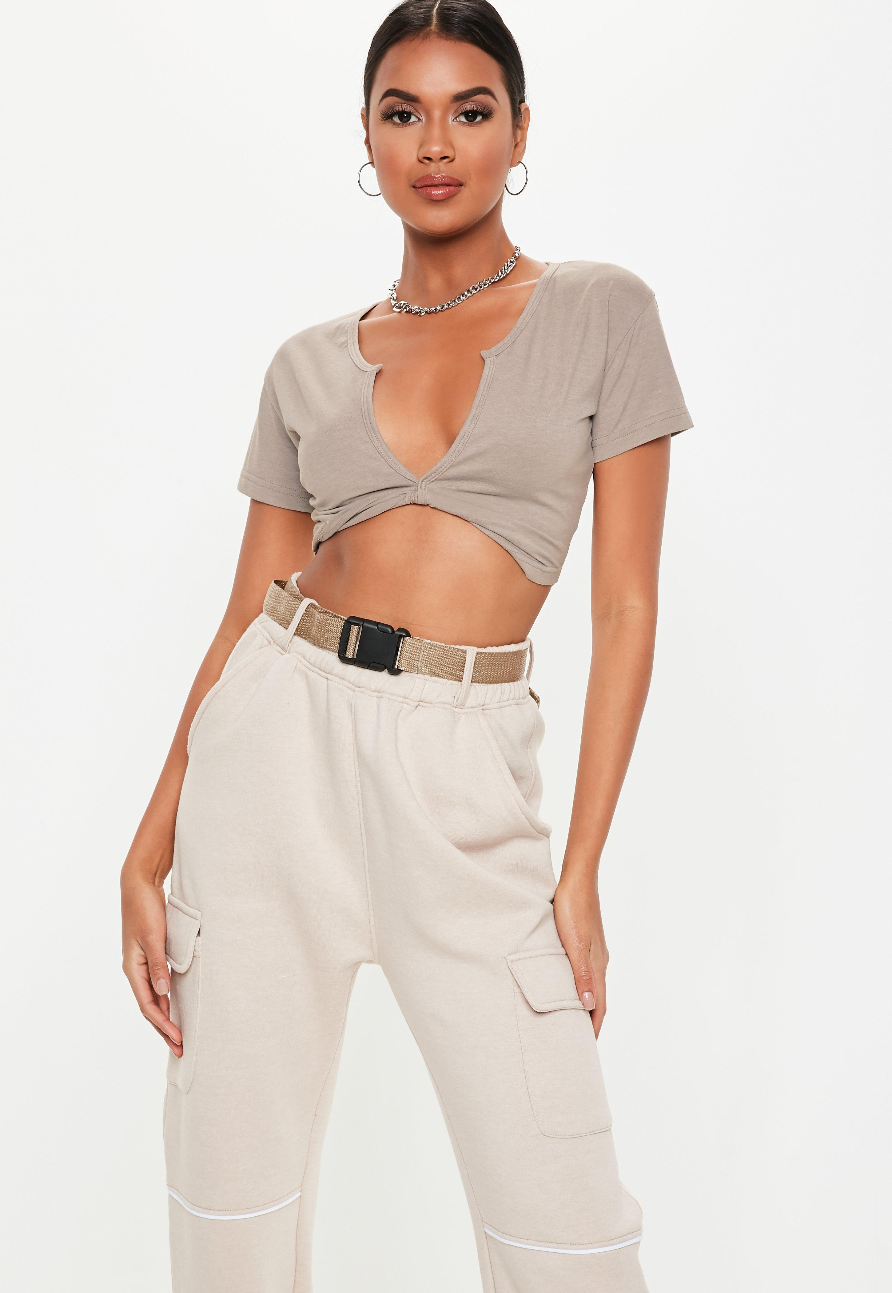 3058ed646cefe Low Cut Tops | Plunge & Deep V Tops - Missguided