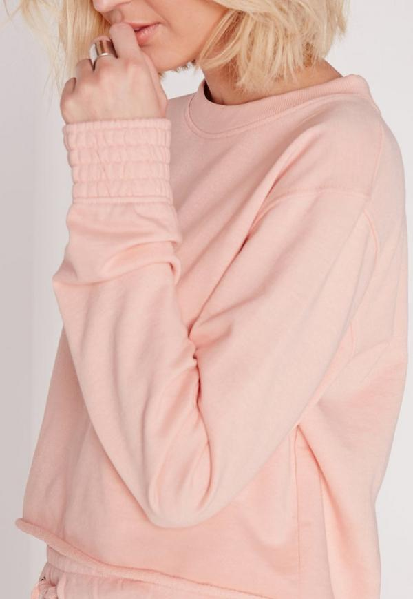 Pink Crew Neck Sweater | Missguided