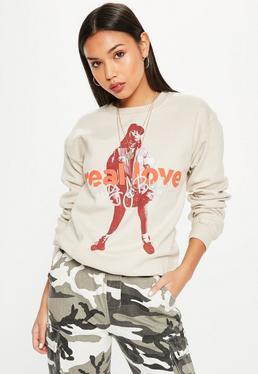 Cream Mary J Blige Real Love Sweatshirt