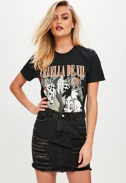 Black Cruella De Vil Graphic T-Shirt