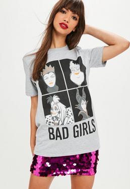 Gray Disney Villains T-shirt