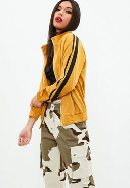 Yellow Side Stripe Tracksuit Top