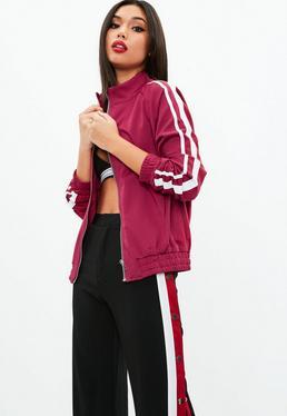 Pink Side Stripe Tracksuit Jacket