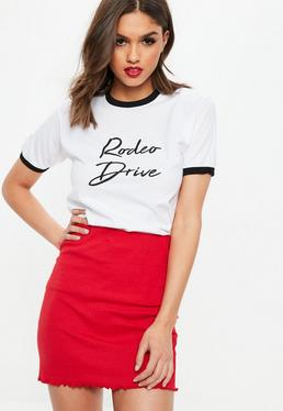 White Rodeo Drive Slogan Graphic T-Shirt