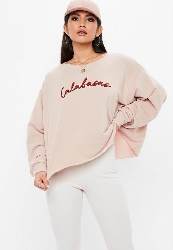 Nude Calabasas Cropped Sweatshirt 7a5001b10