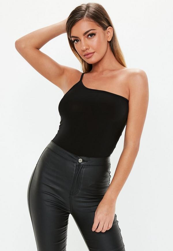 82b798da25 Black Strappy Slinky Bodysuit