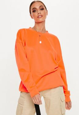 Neon Orange Oversized Sweatshirt