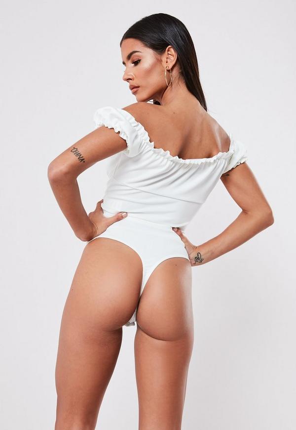 556a91a7a6 White Milkmaid Bodysuit. Previous Next