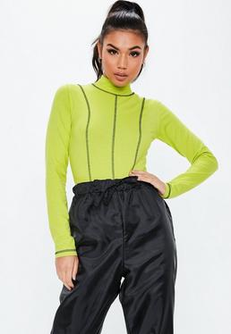 2e624b6199f Green Bodysuits - Missguided