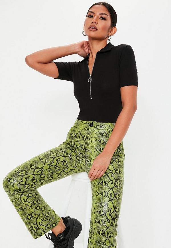 ... Black Zip Up Polo Bodysuit. Previous Next 9c7f5c250